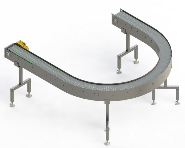 SCC & SCS Straight and Curved Slat Conveyors